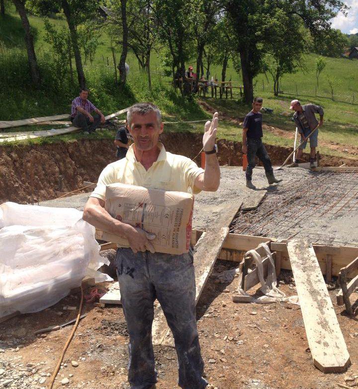Sado Agovic - izgradnja kuce za Aldijana