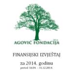 Jaarrekening van Stichting Agovic Fondacija - 2014