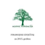 FINANSIJSKI IZVJEŠTAJ za 2015. godinu